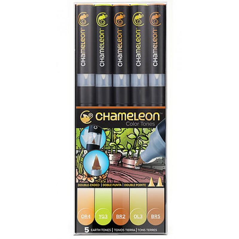 Chameleon 5支裝漸變色marker 土色系列