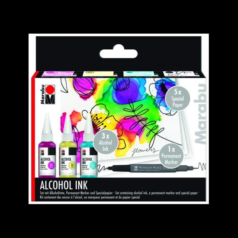 3色酒精顏料